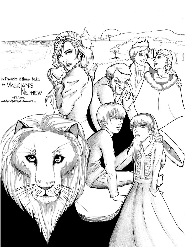 Colouring pages narnia - Narnia Coloring Page Peter Pevensie In Narnia Christmas Wreath Narnis The Magician S Nephew By Dracaena