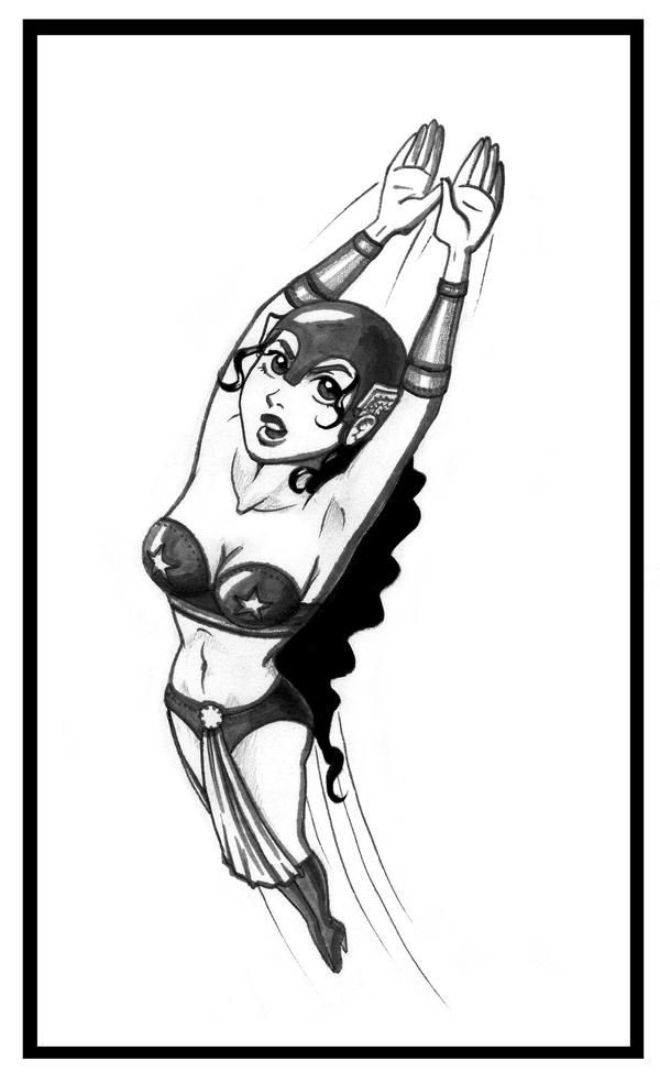 Darna-cartoon version by dracaena-akira