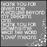 thank you by Jumpert