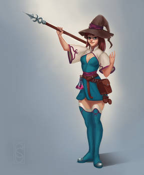 Constance - character design of a young sorceress