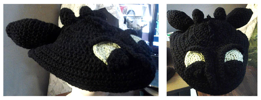 Toothless Hat - Crochet by animephoenix