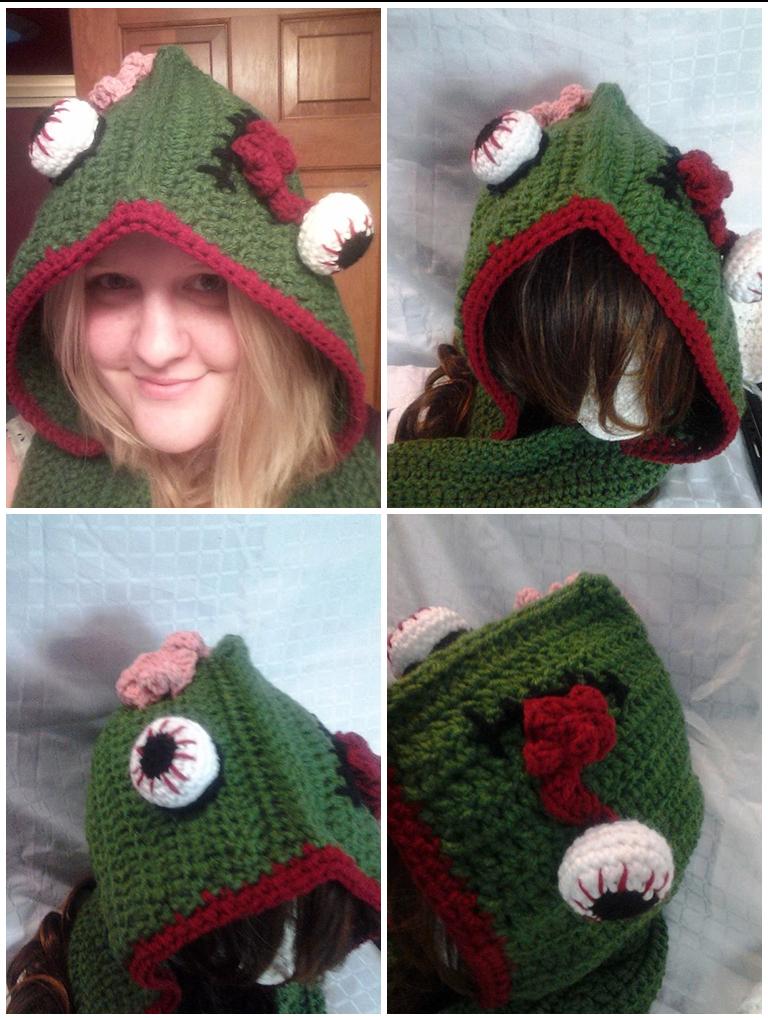 Crochet Zombie Scoodie by animephoenix