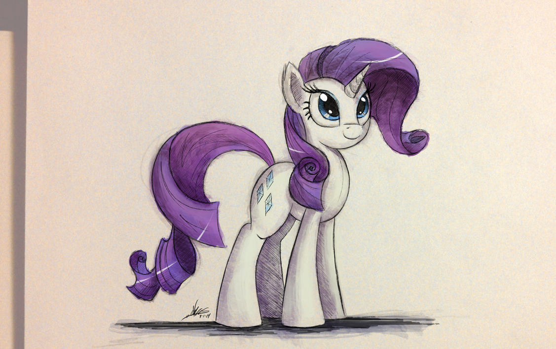 Rarity Sketch by NCMares