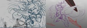 KanPone Rainbow And Twilight Sketchage
