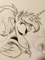 Inktober 2017 : Happy Moon by NCMares