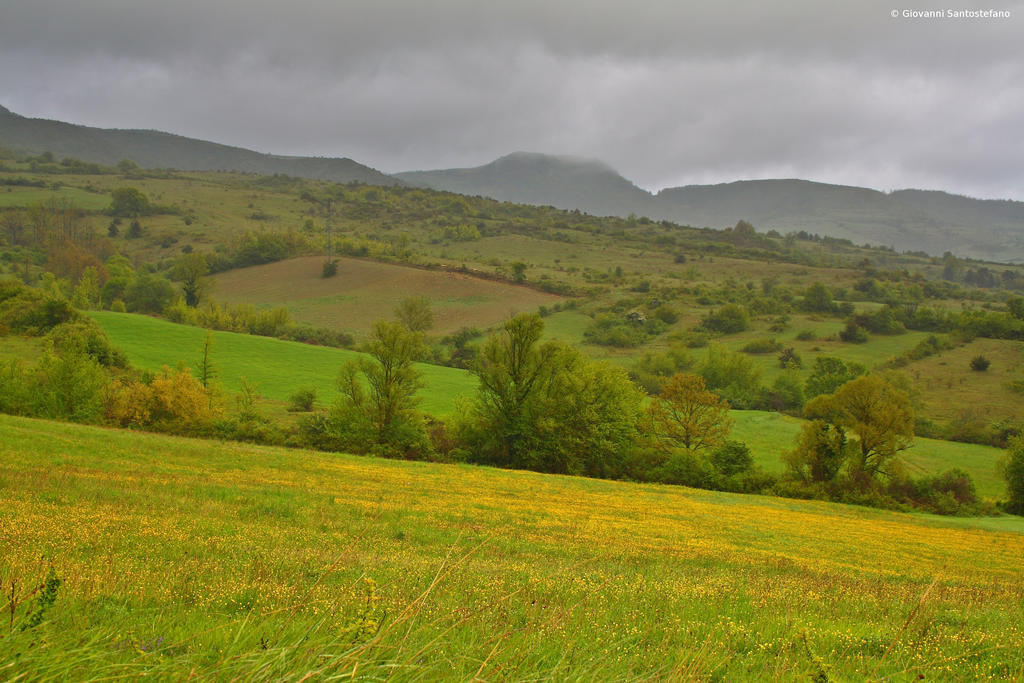 The meadows and the storm by GiovanniSantostefano