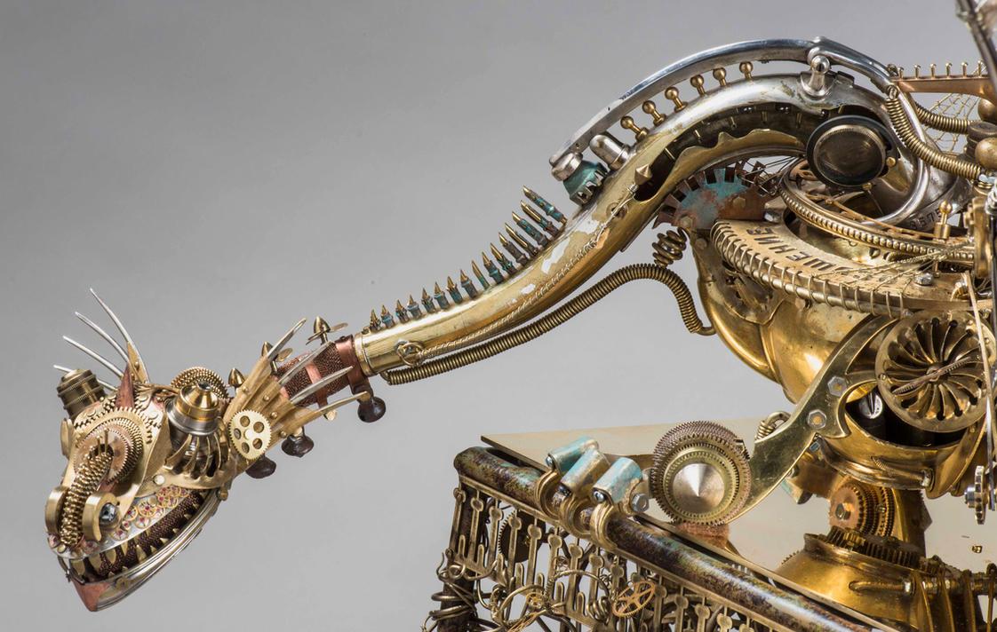 The clock dragon 13 by Albegoyec