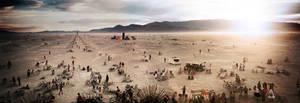 Burning man Temple Panorama by Demen1