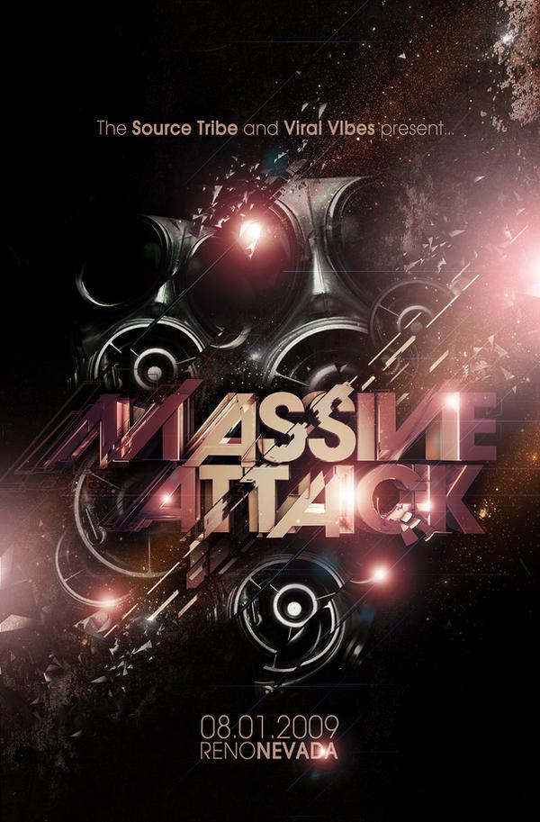 Massive attack Flyer FRONT by Demen1