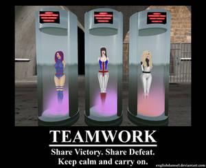 Teamwork: The British Contingent Falls