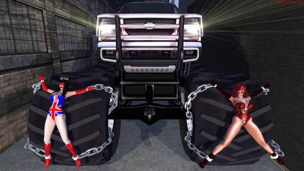 Miss Britain and Crimson Cat: Monster (Truck) Mash