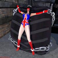 Miss Britain Rides the Wheel
