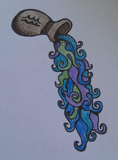 Old Man Water Bearer Aquarius Tattoo Free Download JockeyWater Bearer Aquarius