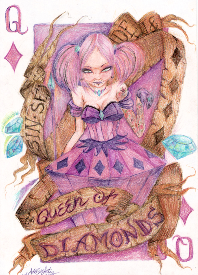 Queen Of Diamonds Tattoo Meaning Queen of diamonds by var1alQueen Of Diamonds Tattoo