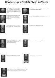 How to sculpt a realistic head from a sphere