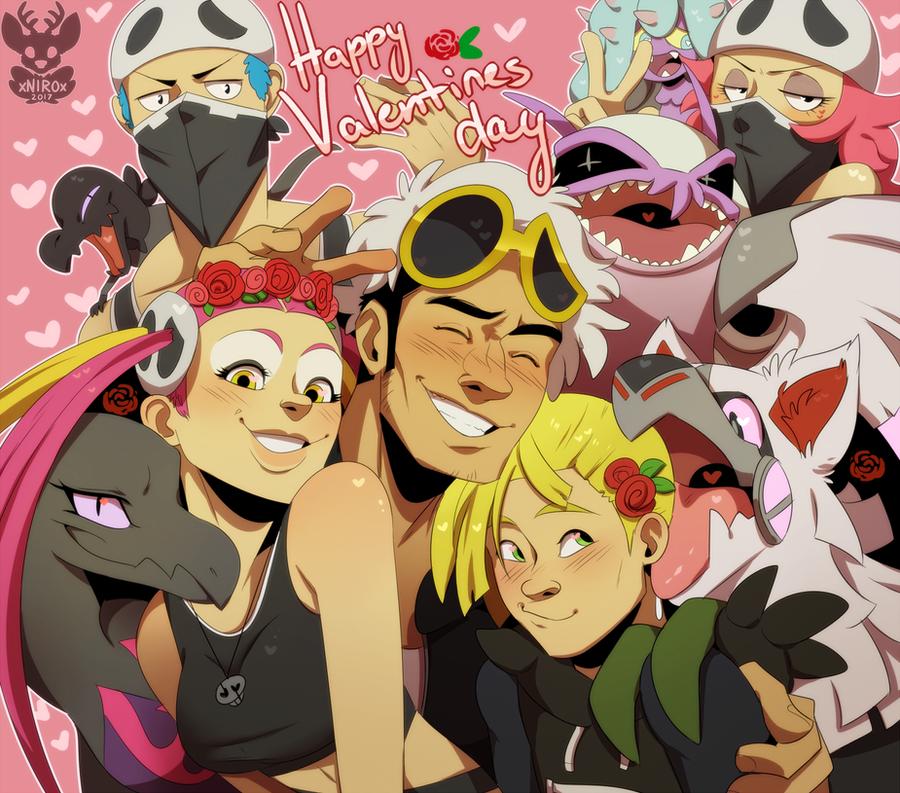 Team Skull Valentines Day by xNIR0x