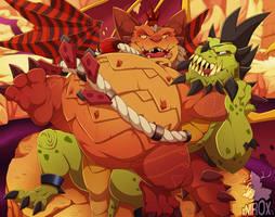 Magnus wrestling Gunnar by xNIR0x