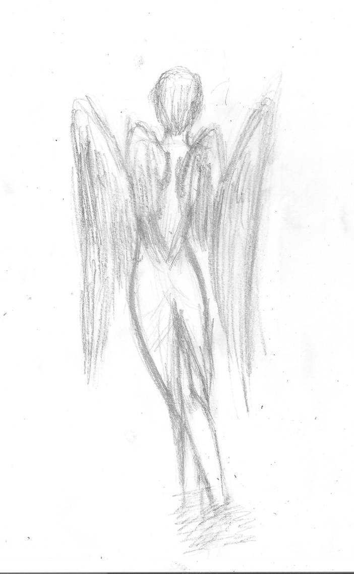 Pretty angel pencil drawing by zeldagamer11 on deviantart