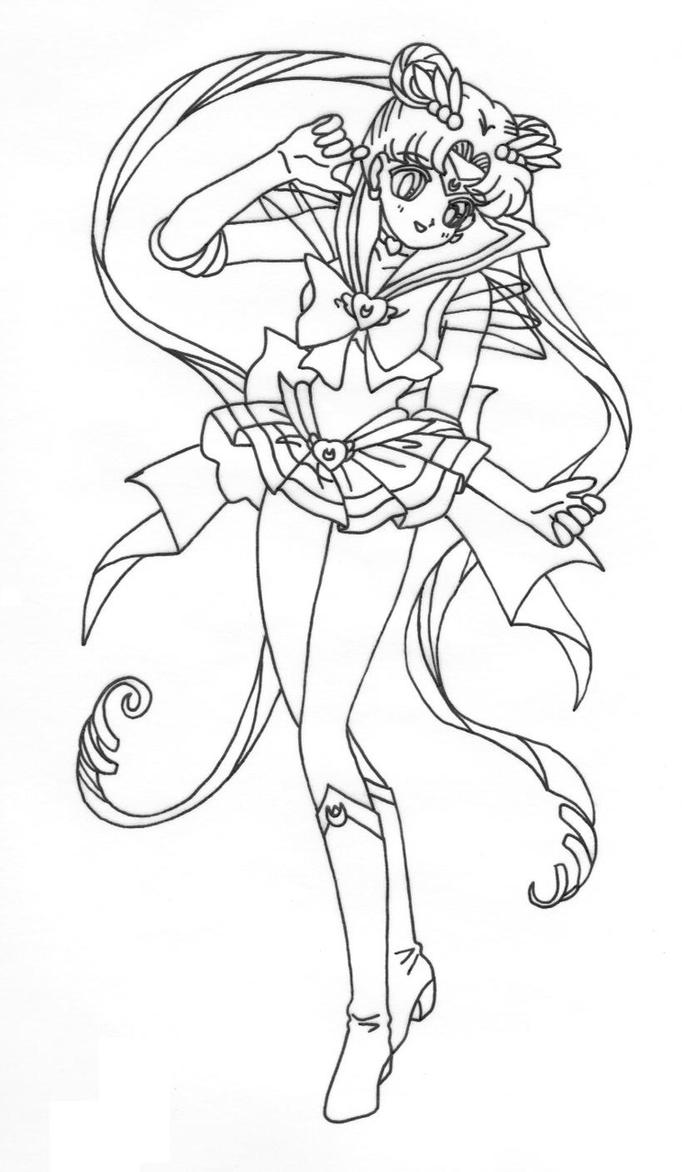 Sailor Moon Walk Pose by MasterofObelisk