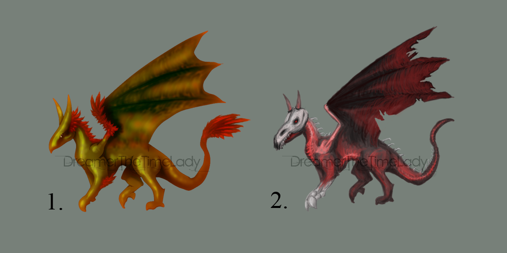 [OPEN] Adoptable Dragons! Autumn+Death by DreamerTheTimeLady