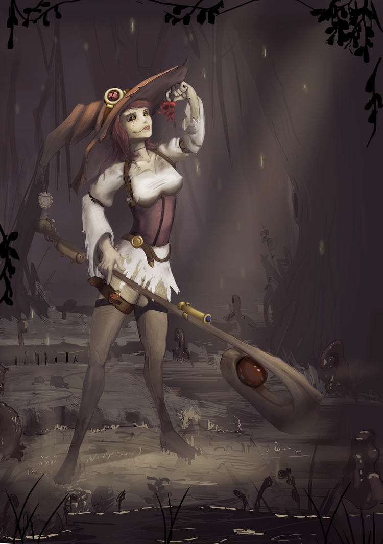 Steampunk Witch/Warlock Outcast Odyssey by SunYo