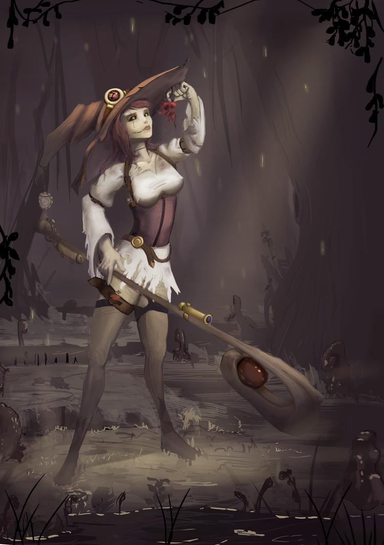 Steampunk Witch/Warlock Outcast Odyssey by SunYo