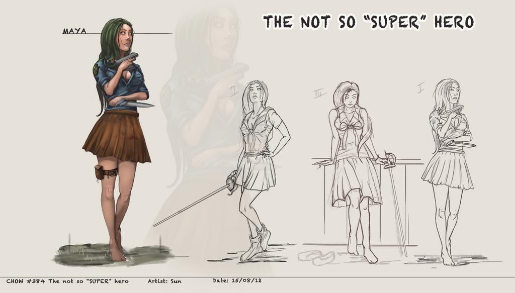 The not so SUPER hero     Maya    by SunYo