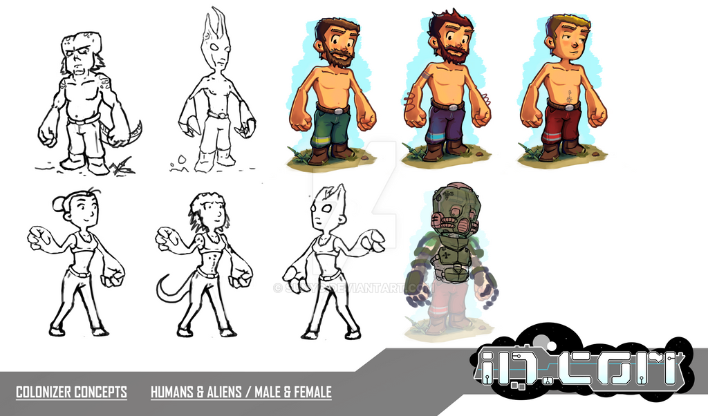 WIP Character -- Concept for a 3D-Strategy-Game by SunYo