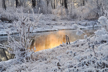 river is not frozen, whole by Tumana-stock