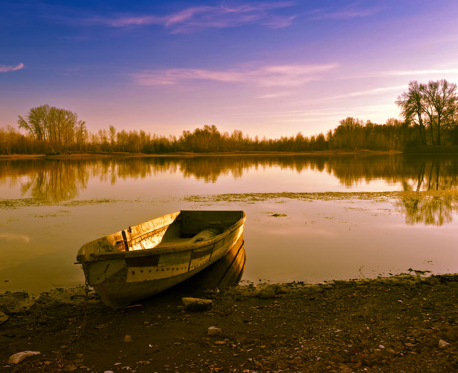 Old boat by Tumana-stock