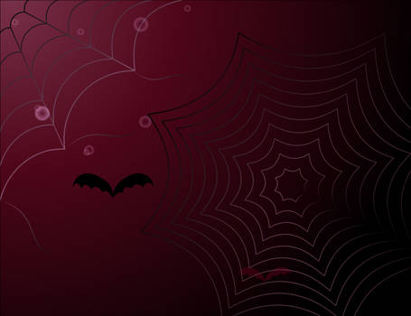 background with spider web