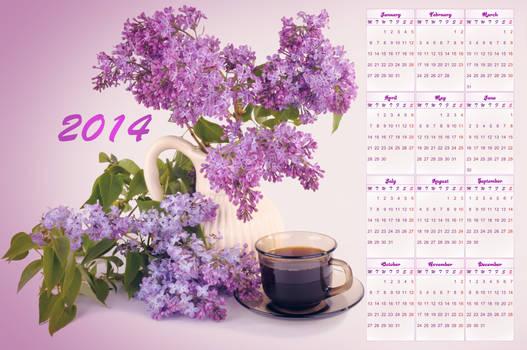 Calendar 2014 Lilac