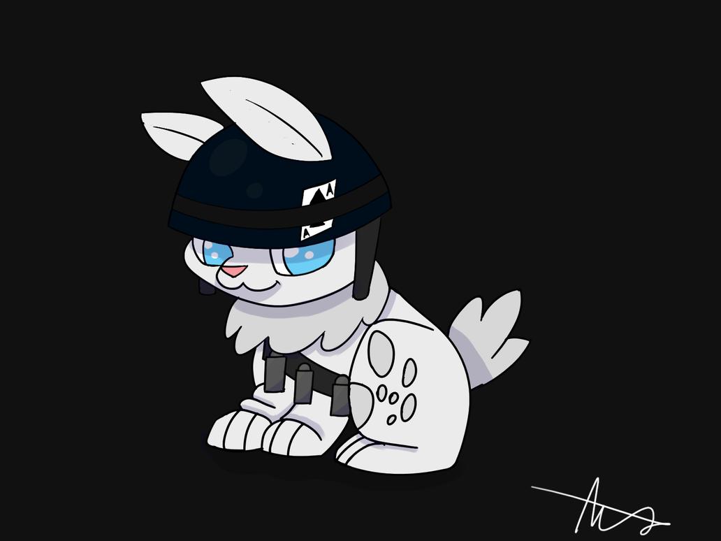Army Rabbit by SpiralixFLare