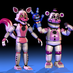 Funtime Foxy and Funtime Freddy . [FNaF SL]
