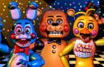 FNaF 2 - Toys Time!! [Blender Poster]