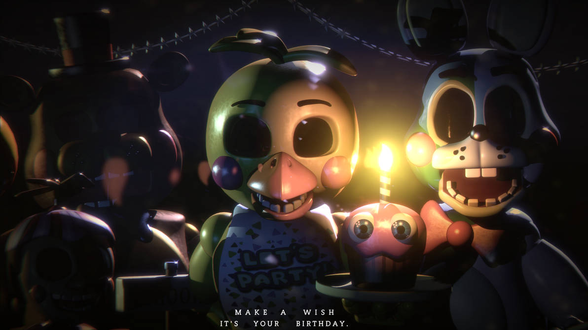Make a Wish, It's your Birthday   [FNaF 2 Blender] by