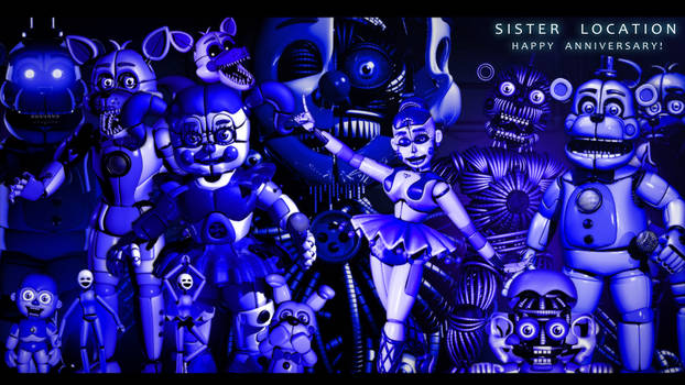 FNAF SL Anniversary Collab! - [ Blender/SFM/C4D] by ChuizaProductions