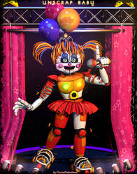 Unscrap Baby FullBody - [FNaF 6 FFPS] by ChuizaProductions