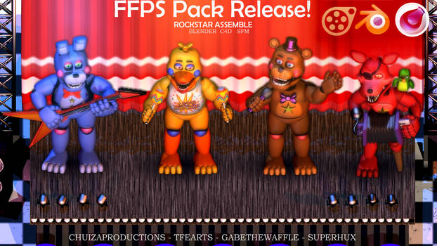Blender-SFM-C4D RELEASE - FFPS Pack ROCKSTARS by ChuizaProductions