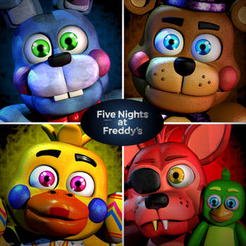 Rockstars Plushies gang - [FNAF 6 FFPS] by ChuizaProductions