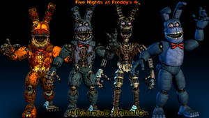 Nightmare Bonnie Model Showcase - [FNaF 4 Blender] by ChuizaProductions