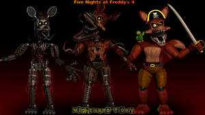 Nightmare Foxy Model Showcase [FNaF 4 Blender] by ChuizaProductions