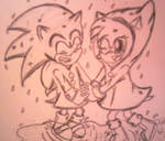 Little Sonic and Amy