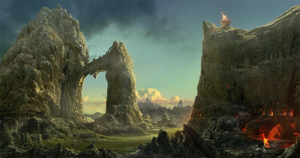 matte landscape by godbo6