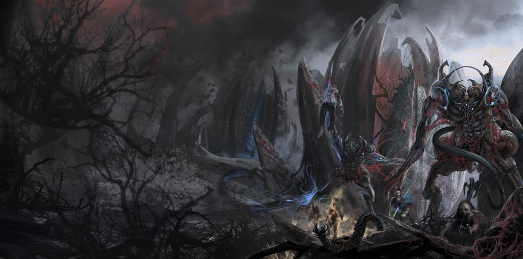 Alien counterattack by Guang-Yang