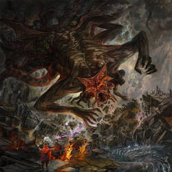 Artwork for Leviathan's album Invader by Guang-Yang