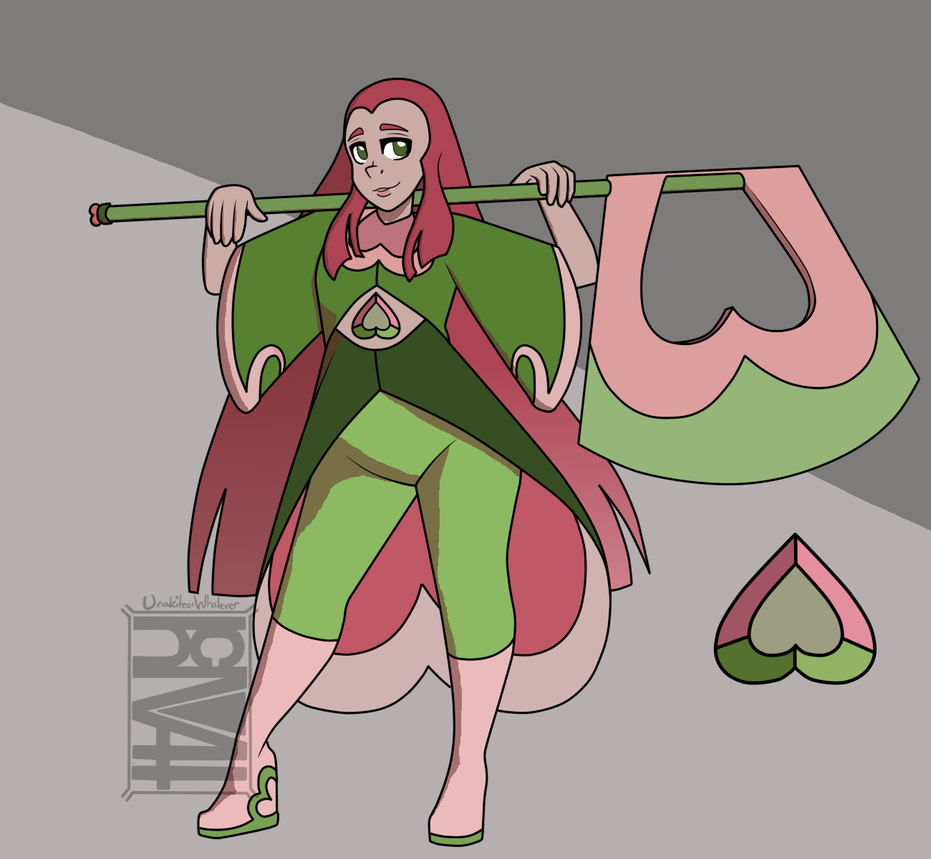 Watermellon Tourmaline (Contest Entry) by Sugarhoneymouse