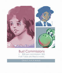 Aivilo0 Bust Commission Sheet by Aivilo0