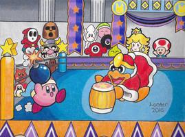 Throwdown in Dreamland - Kirby and King Dedede by Isuckworse
