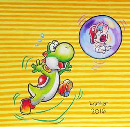Baby Mario on the Loose - Yoshi's New Island